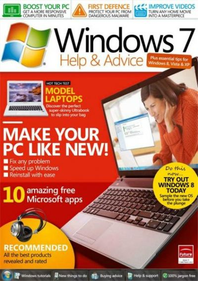 Windows: The Official Magazine - Windows 7 Help and Advice - Christmas декакбрь 2012